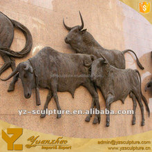 Beautiful Animal Bronze Relievo Metal Wall Art