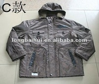 mens fall/winter quliting hoodie running jacket stocklot goods