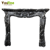 Indoor Used Classic And Black Marble Fireplace Mantel For Sale