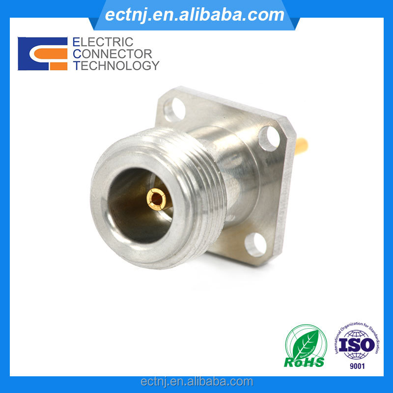 N type Female Jack 4 hole Flange Mount RF Connector