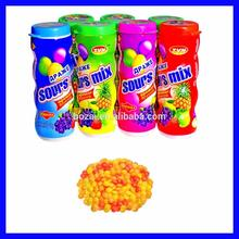 best selling fruit shape candy in bottle