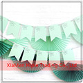 wholesale high quality Customized paper Bunting flags party decoration