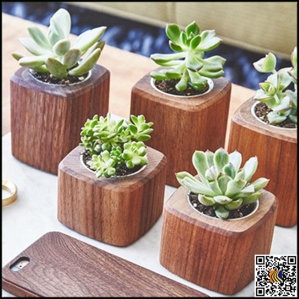 Maceta de madera venta estilo cemento interior macetas de - Macetas de madera ...