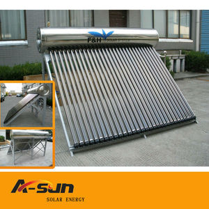 compact pressurized solar water heater with heat pipe solar vacuum tube