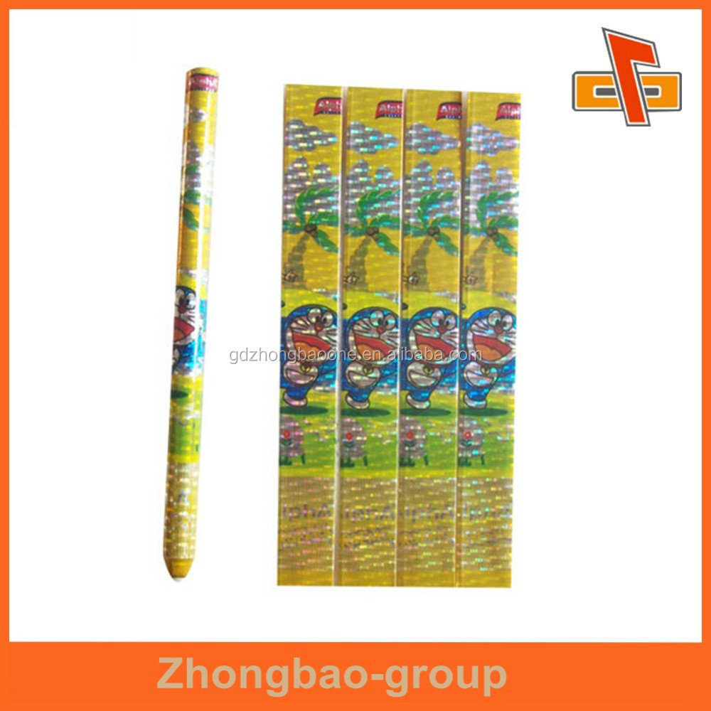 2015 private label pencil pvc heat shrink sleeve for pencil pipes