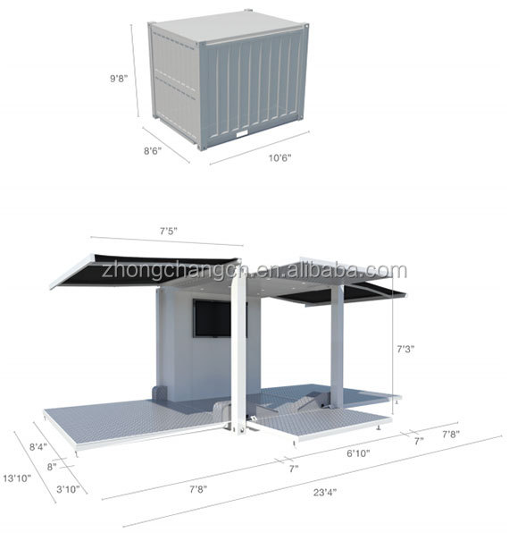 10ft pop up container shop