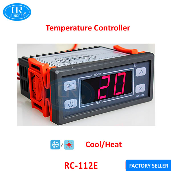 RINGDER RC-112E Digital Bimetal Thermostat Temperature Switch Made in China