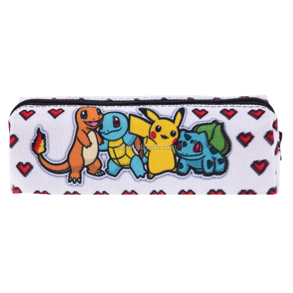 alibaba china wholesale sublimation promotional pokemon pencil case for school