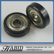 608zz bearing roller nylon,delrin,POM,PP plastic bearing for sliding door 608zz nylon rollers