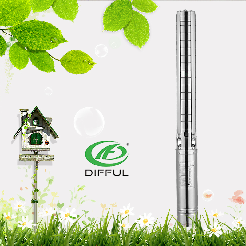 4 inch irrigation water pump solar submersible water pump with flat cable water pumps