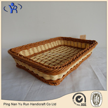 Factory Wholesale Home Decor Woven Rattan Storage Basket Tray