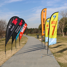 Advertising exhibition event outdoor Feather Flag Flying Beach Flag banner stand, Teardrop Flag for beach sea activity