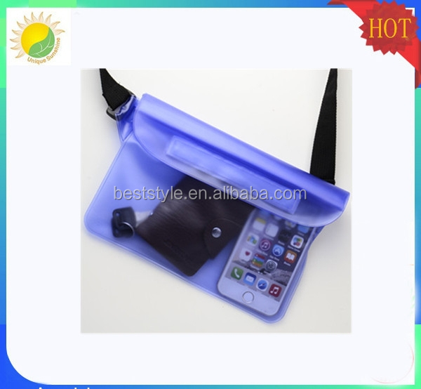 Eva drawstring plastic waterproof cell phone shoulder bag