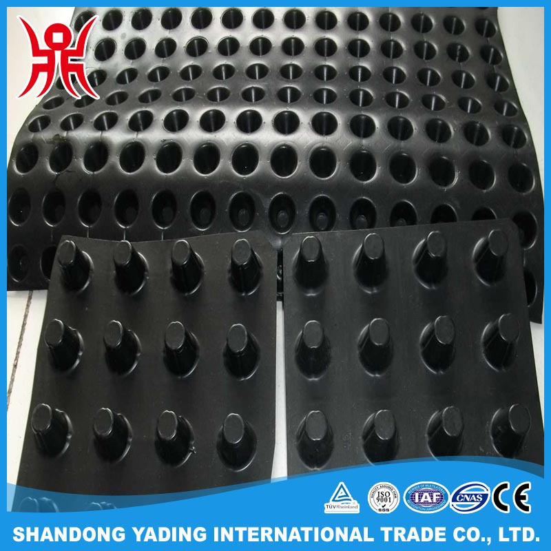 Polypropylene Drainage Cell : Plastic drainage board dimple sheet for