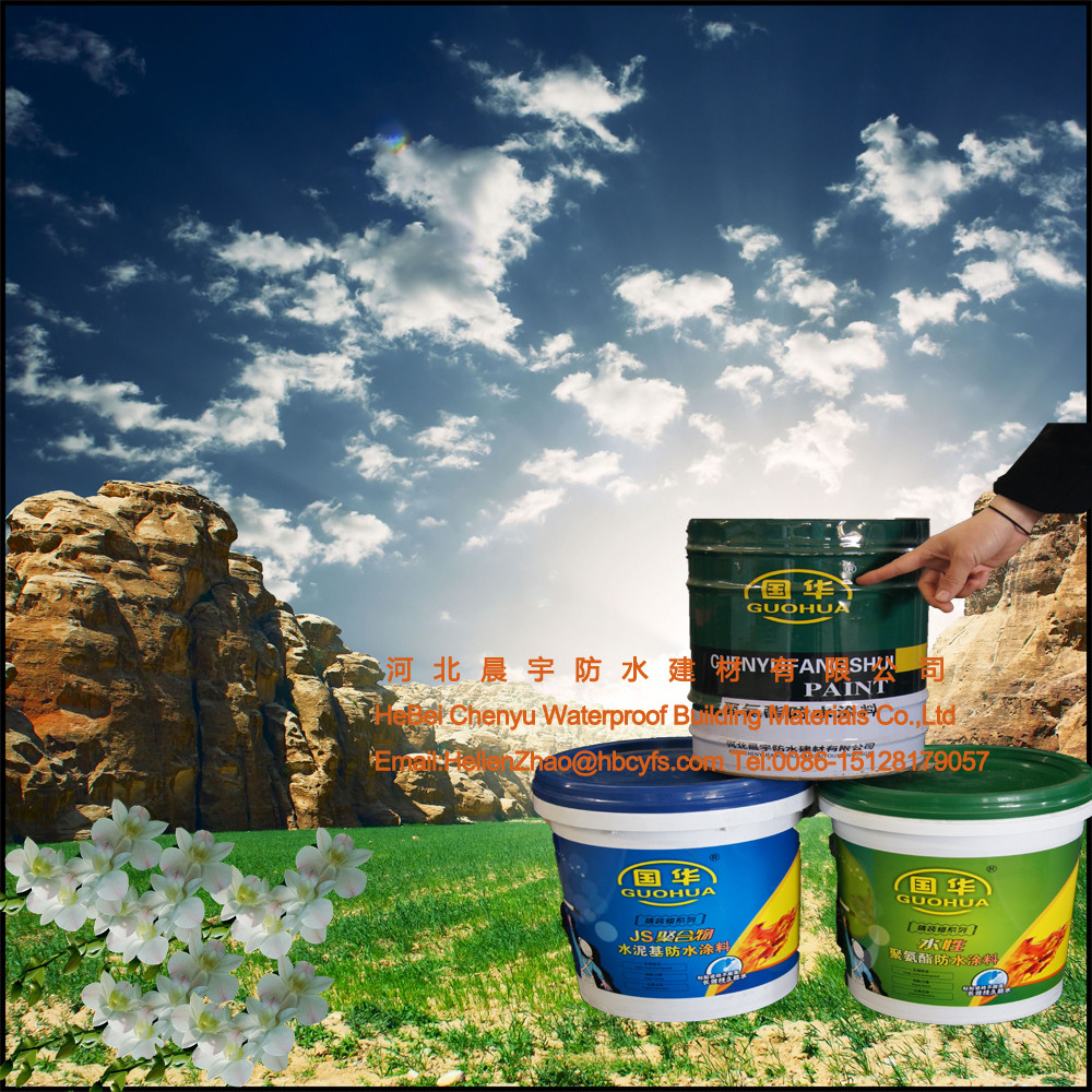 Liquid roof waterproof membrane JS acrylic polymer waterproof roof coating
