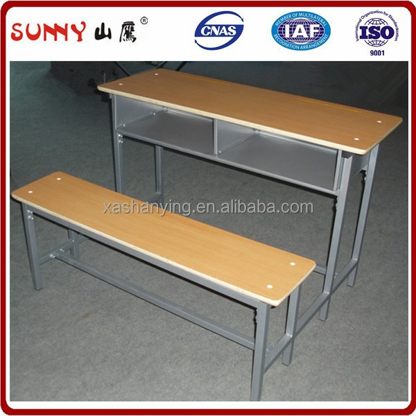 Professional mental tube student table and bench set
