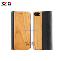 New Arrival Wallet Wood Mobile Phone for iPhone X Luxury Wallet Flip Wooden Stand Phone Cover for iPhone