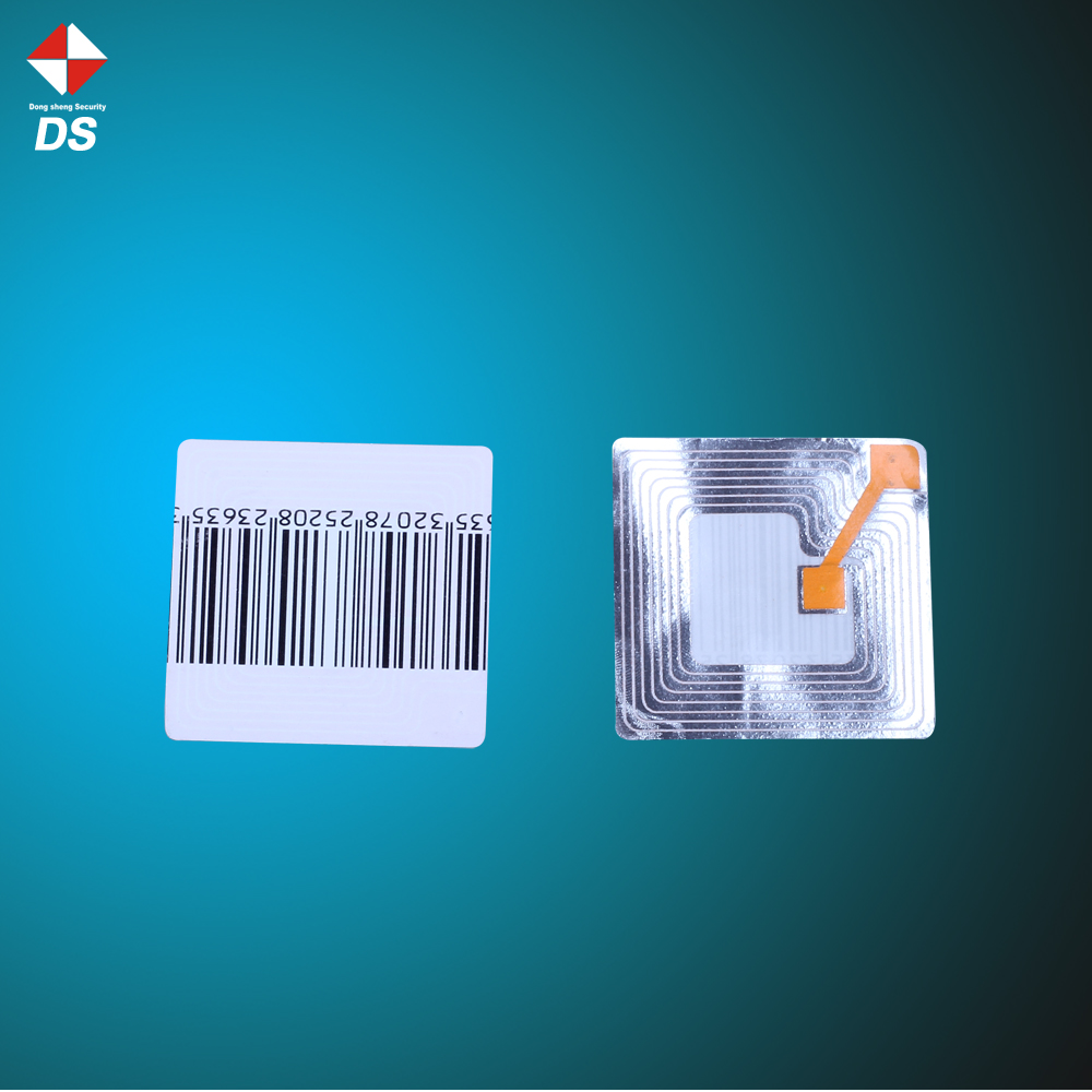 Cosmetics shop anti theft sticker 8.2mhz EAS rf printed label