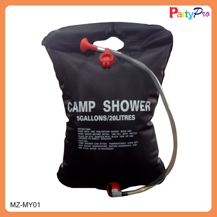 Hot Sale Portable Capacity 15L Waterproof Outdoor Camp Shower Solar PVC Water Bag