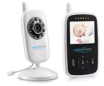 Videotimes 2.4''  Radio Baby Monitor with Two-way Talkback , Temperature sensor, Lullabies