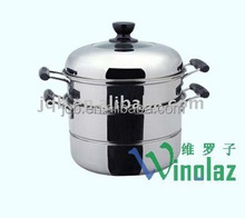 2-layer stainless steel energy-saving food steamer