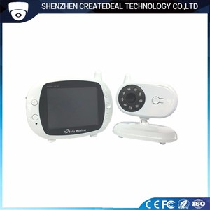 850M 2.4ghz wireless digital 3.5 inch tft lcd baby care camera electronic monitor with night vision lullaby temperature