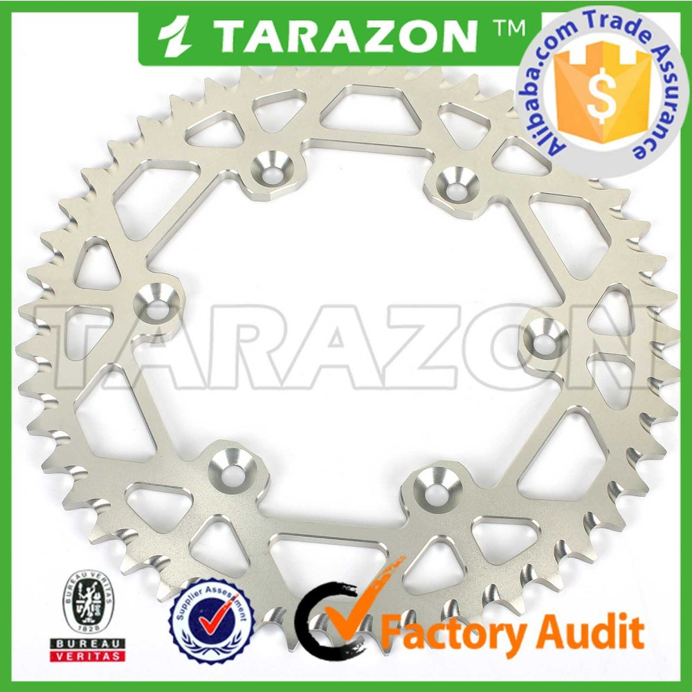 50 teeth motorcross self cleaning rear sprocket for SUZUKI
