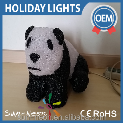 LED 3D acrylic Cute panda motif lights panda night light christmas light