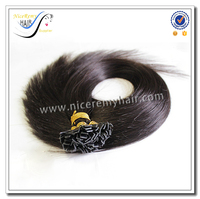 Wholesale top quality pre bonded hair flat tip fashion human hair extension