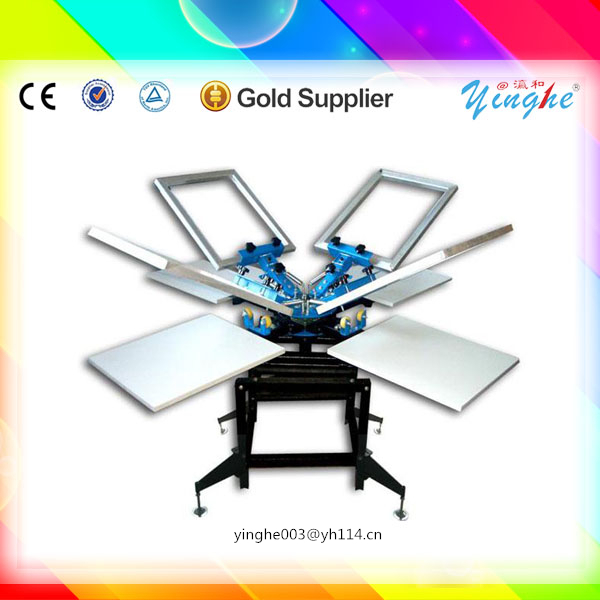 agent needed and lowest price 4 color rotary silkscreen printing machines