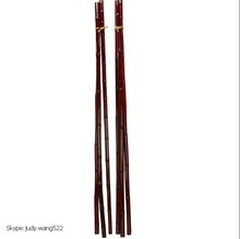 Wholesale thin Bamboo poles canes sticks red plastic bamboo poles