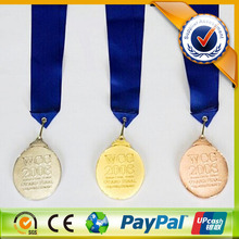 High Quality Zinc Medal with Gold Silver Bronze Color