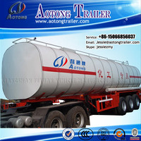 New Commercial Vehicle 3 Axle liquid chemical diesel Fuel oil Tank Trailer for sale