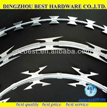 concertina razor barbed wire coils