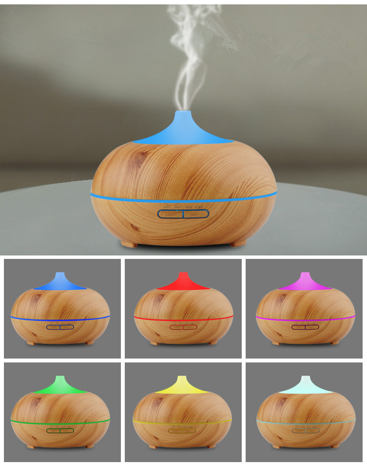 2017 New Product 300 ml Wooden Humidifier With Ultrasonic Air Aroma Purifier