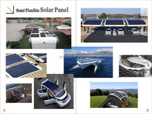 High Efficiency ETFE Sunpower Semi Flexible Solar Panel 100W 12V For Boat, RV, Golf Carts