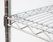 Chrome wire shelving for kitchen, office or retail display
