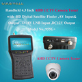 "DC 12V Output 4.3"" Handheld CCTV Camera Tester with HD Satellite Finder , AV Input & Output ,Display AHD Pictures"