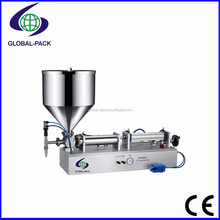 GPF-500K Stainless steel pneumatic air driven grade food cosmetic cream type filling machine