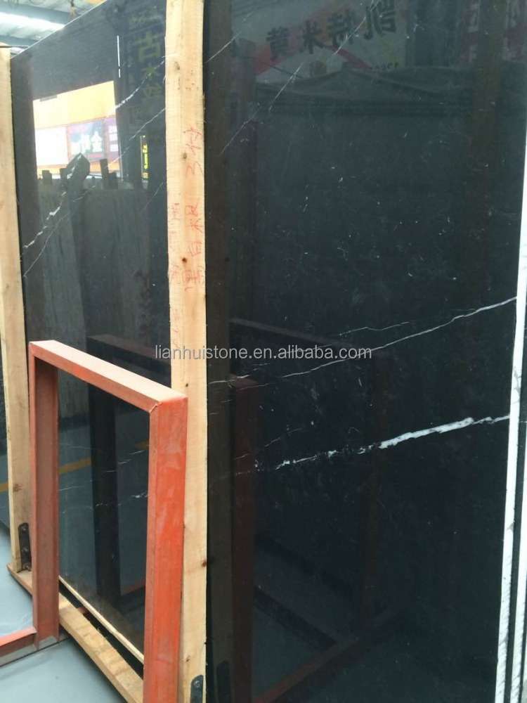 nero marquina marble slab price, Chinese black marble slab stone, Chinese black marble with white vein stone granite slab tile