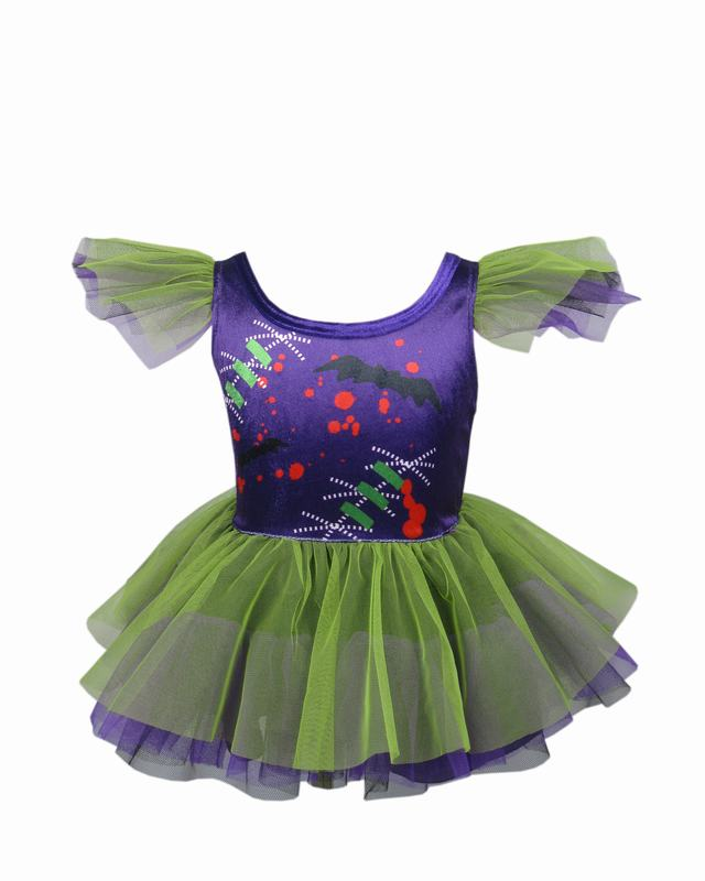 Halloween Little Frankenstein Gril Costume Children Party Play role 1-4 Years Girl Dresses