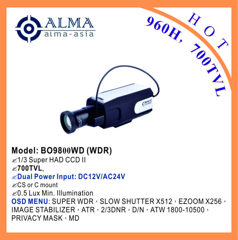 1/3 SONY EFFIO-E WDR 700TVL BOX CAMERA