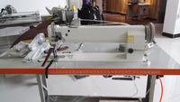 double needle compound feed sewing machine for car seat 60cm space