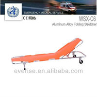 aluminum alloy folding stretcher; medical aluminum alloy folding patient transfer stretcher carry case