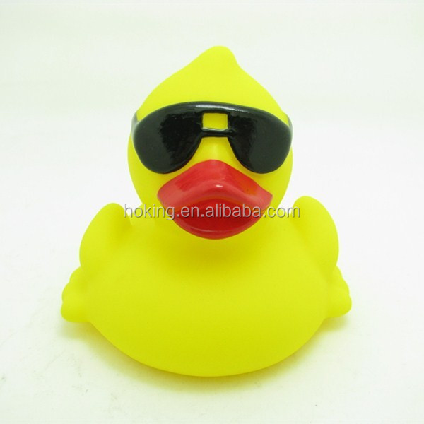 Customized Logo Printed Yellow Rubber Race Duck