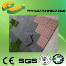 Popular Eco-friendly wpc interlocking deck tiles with plastic clips supplier
