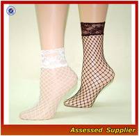 Fishing Net Style Women Lace Ankle Socks/Comfort and Breathable Lace Ankle Socks