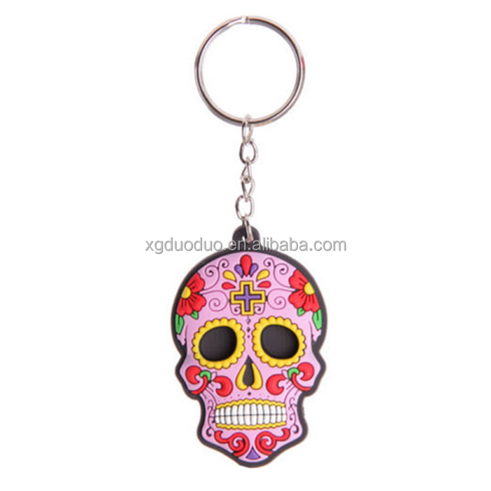 USA Souvenir Keychain,Sugar Skull Promotional Gift Cheap Keychains In Bulk