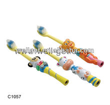 C1057 New Design Soft Nylon Kids Group Animal Shape Toothbrush