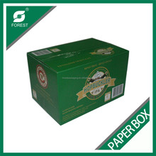 BEVERAGE INDUSTRY BE FLUTE CORRUGATED WINE PACKAGING CARTONS HIGH QUALITY BEVERAGE SHIPPING CARRIERS WITH DIVIDER